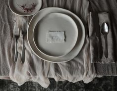 Plant Dyed TABLE COVER {Taupe}