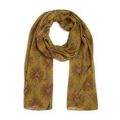 Echarpes, foulards SOLDES jusqu à -50%. Etole en laine imprimé fleurs 30668b62201