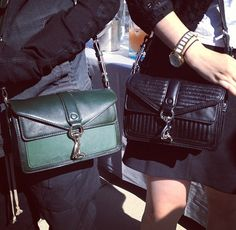 We have the green Hudson Moto Mini by Rebecca Minkoff at Cicada right now! Perfect pop of color for your Fall outfits