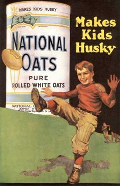 Oats! The magic food that apparently will make you both skinny AND husky depending on the time period in which the product is being marketed.