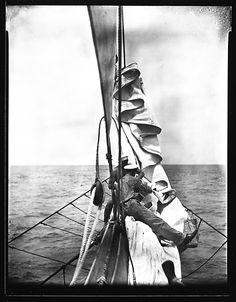 [South Seas: Crew Members on Prow, Aboard the Cressida]  Walker Evans