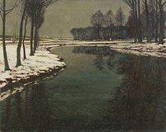 Max Clarenbach, WINTERLANDSCHAFT AN DER ERFT, Auktion 969 Alte Kunst, Lot 1291