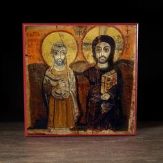 Christ and Saint Menas Icon - F214 - Legacy Icons