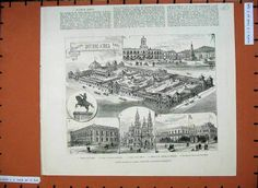 1882 - Buenos Aires, Exposición Continental Sud-Americana. Building Chapel Martin
