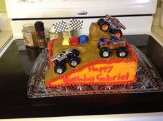 Monster jam birthday cake Monster Jam Cake, Love Monster, Monster Truck Birthday, Monster Trucks, 5th Birthday, Birthday Cake, Birthday Ideas, 12 Days Of Christmas, Party Time