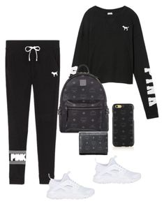 """""""Untitled #392"""" by raevynn324375 on Polyvore featuring Victoria's Secret, MCM and NIKE"""