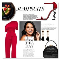 """""""3#"""" by lo2lo2a ❤ liked on Polyvore featuring WithChic, Aspinal of London, Yves Saint Laurent and jumpsuits"""