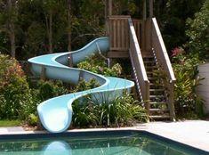 Swimming Pool Water Slide --- Modular Sections -- DIY in Home & Garden, Yard, Garden & Outdoor Living, Pools & Spas Swimming Pool Slides, Pool Water Slide, Natural Swimming Pools, Swimming Pool Designs, Water Slides Backyard, Deck Slide, Pool Fun, Above Ground Pool Slide, In Ground Pools