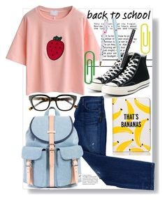 """American idiot"" by shormi ❤ liked on Polyvore featuring Citizens of Humanity, Converse and BackToSchool"