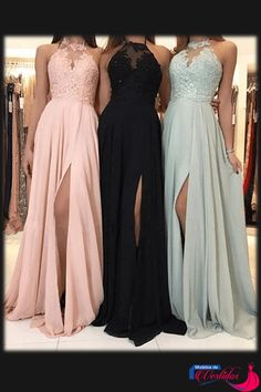 Charming Lace Halter Long Chiffon Split Bridesmaid Dresses Charming Lace Halter Long Chiffon Split Bridesmaid Dresses 2018 Formal Evening Gowns Related posts:Abendkleider Lang V AusschnittOff the Shoulder Green Elegant Formal Cheap Long Prom Dress,. Bridesmaid Dresses 2018, Cute Prom Dresses, Wedding Party Dresses, Formal Wedding, Wedding Bridesmaids, Halter Top Prom Dresses, Dresses Dresses, Halter Prom Dress, Formal Prom