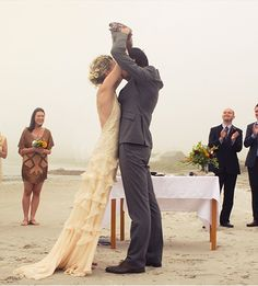 irish beach wedding, Not my favorite pic, but hello they are in Ireland on the beach. Sweet!