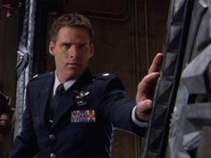 Cameron Mitchell ( Ben Browder ) Stargate SG-1.... What can I say? Good looking guys and sci-fi?? Awesome. :)