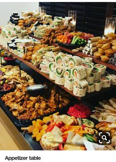 Wedding Buffet Food Party Buffet Food Set Up Food Platters Christmas Brunch Brunch Party Food Presentation Appetizers For Party Party Snacks Appetizers Table, Holiday Appetizers, Appetizer Recipes, Dinner Recipes, Wedding Appetizers, Appetizer Table Display, Meat Appetizers, Catering Display, Catering Ideas