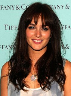 Piece(y) Be With You  Sure, you can go traditional with a basic blunt fringe (as seen on Leighton Meester in this slideshow's cover), but you can also piece them out to break them up a bit. Just mist a comb with hair spray, and run through your fringe to get the look you desire