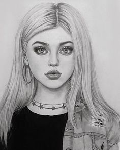 Likes, 15 Kommentare – Art Featuring Page … – … - Kunst Skizzen Amazing Drawings, Realistic Drawings, Beautiful Drawings, Cool Drawings, Drawing Faces, Drawing Art, Drawing Tips, Girl Drawing Sketches, Girl Sketch