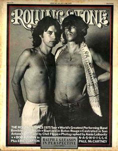 Mick Jagger and Keith Richards of the Rolling Stones on the July 1975 cover. (Courtesy of Flynn Flynn Rolling Stone) Mick Jagger, Melanie Hamrick, The Rolling Stones, Georgia May Jagger, Keith Richards, Recital, Rock And Roll, Rolling Stone Magazine Cover, Mundo Musical