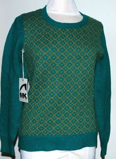 Mountain Khaki Women's Crew-Neck Bridger Sweater Size Small Emerald #MountainKhaki #Crewneck