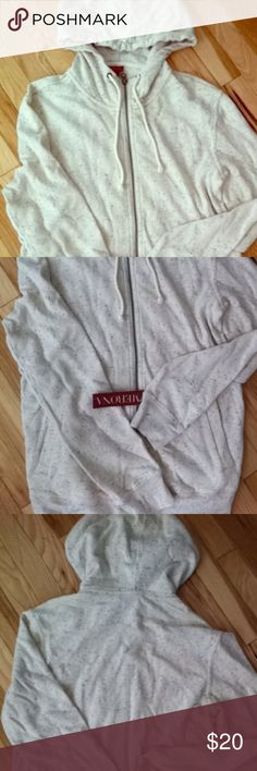 ME HODDIE OATMEAL It's a Hoodie that's never been worn. Brand new with tag. The color of the hoodie is an oatmeal with blue specks. It's in great condition! Merona Tops Sweatshirts & Hoodies