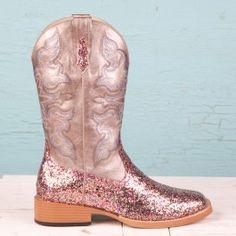 Roper Ladies' Multi-Colored Glitter Boots GAHHH <3