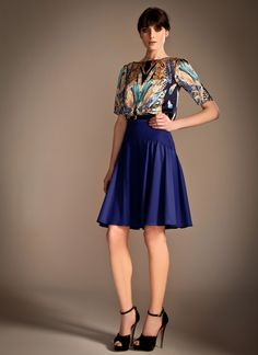Temperley London, Pre Fall '13, Feather Print Top and Artina Skirt