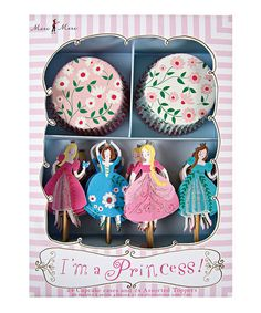 Take a look at this Pink 'I'm a Princess' Cupcake Kit by Meri Meri on #zulily today!