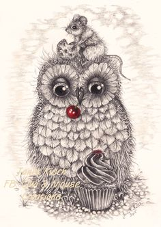 That Cupcake Owl ;) Janet Kisch (Owl & Mouse Creations)