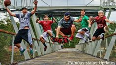 The guys of Dude Perfect ( Tyler, Cody, Garrett, Coby, Cory and Panda) have become a real internet sensation with their battles, stunts, stereotypes and more. What they always do is making video's of having fun and go big.