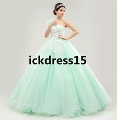 One Shoulder Quinceanera Ball Gown Long Formal Prom Party Pageant Wedding Dress