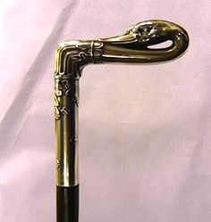 Silver Plated Reverse Head English Swan head Walkung stick