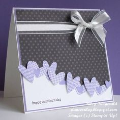Stampin Up card....like the heart wave