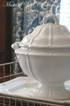 IRONSTONE: Ironstone 101 - Miss Mustard Seed. Short, but good article about ironstone china.