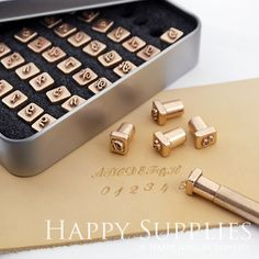 Custom Leather Stamp 26 Alphabet Stamp Brass Metal Stamp / Interchangeable Wood Brand Iron Heat Emboss w Letter T-slot Holder Soldering Iron Stamp Up, Wood Stamp, Leather Craft Tools, Leather Projects, Leather Crafting, Anniversary Ideas For Him, Stem Challenge, Alphabet Stamps, Uppercase Alphabet