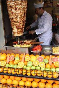 Istanbul street food: chicken doner (with or without a drink of fresh citrus juice): delicious!