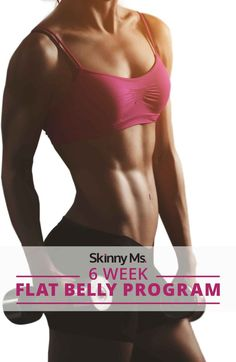6 Week Flat Belly Program - Finally get your flat belly for good with this full workout program and meal plan!  #flatbelly #flatabs #fitness #cleaneating