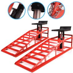 NEW-HEAVY-DUTY-CAR-VAN-4X4-VEHICLE-2-TON-GARAGE-RAMP-HYDRAULIC-JACK-LIFT-RAMPS