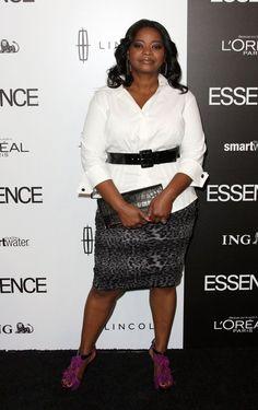 Octavia Spencer Leopard Skirt