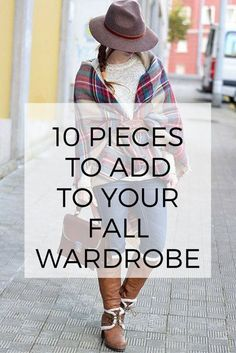 Plaid scarves and wool hats! :: 10 Pieces to Add to Your Fall Wardrobe