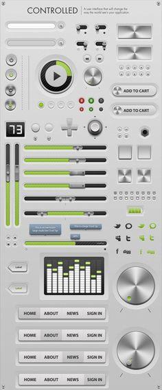 #UI #design Controlled - #GUi - Graphical User Interface #webdesign #design #designer #uidesign #ui