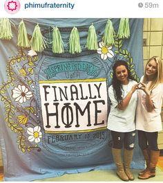 Sweet home phi Mu themed banner