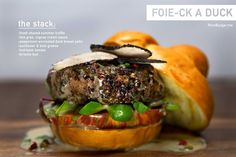 This Opulent Burger Comes with a Foie Gras and a Duck Breast Patty #burgers trendhunter.com