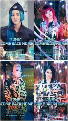 2NE1-COME BACK HOME (CRUSH) ❤ (Selfmade Wallpaper by HELEN GZB)