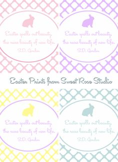 Easter Prints with 4 color options from Sweet Rose Studio!