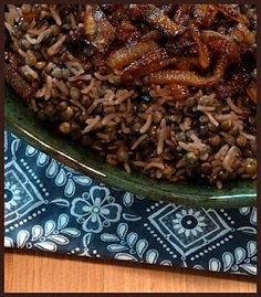 Lentils and Rice with Fried Onions (Mujadarrah) | Vegetable Recipes ...
