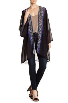 Border Detail Solid Kimono by Natural Impressions on @nordstrom_rack
