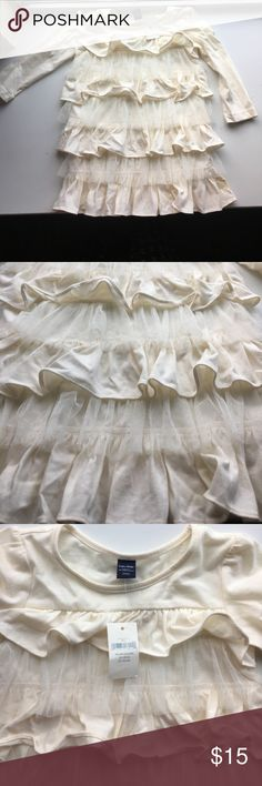 Baby Gap Tutu Dress 18-24 Months New With Tag Brand new with tag never worn some yellow stain I am not sure what happen please see the last two pictures, smoke free and pet free home color is ivory GAP Dresses Casual