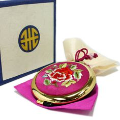 Folding Mirror Compact Pocket Double Side Special Gift Korean Traditional Luxury #Korean Traditional