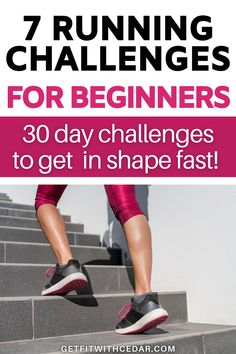 The hardest part of running for beginners is the consistency and motivation. Here are 7 excellent 30 day running challenges for beginners that'll keep you inspired and help you become a better runner quickly. #beginnerrunner #fitnesschallenge #runningchallenge 30 Day Running Challenge, Workout Challenge, Running For Beginners, Running Tips, Become A Runner, Hard Part, Consistency, Get In Shape, Helpful Hints