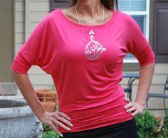 3/4 sleeve fashion shirt with Blessed (mashallah) in crystal Swarovski design.  by lovemenation.com