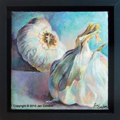 Items similar to Original Acrylic Painting of Garlic on Etsy Acrylics, Decoupage, Garlic, Paintings, The Originals, Unique Jewelry, Handmade Gifts, Fun, Vintage