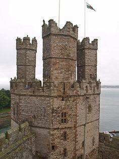 Caernarfon (Carnarvon) Castle - North Wales